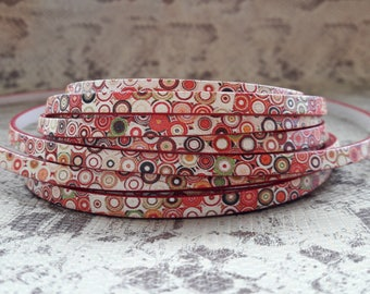 5 mm flat printed with high quality European leather strap