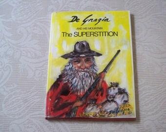 "Vintage Book ""De Grazia and his Mountain Superstition"" Arizona Artist Legends 1972 Art Book"
