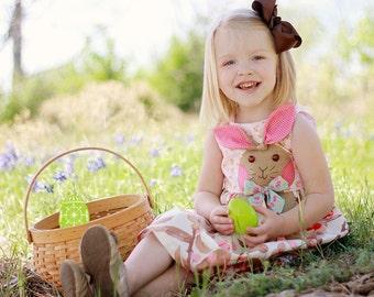 Bunny Hop Dress Girls PDF dress pattern  Sizes 1 - 8 included