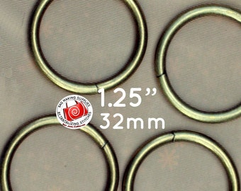 1.25 inch / 32mm O Rings - Available in Antique Brass and Nickel Finish - Choose from 248, 600, and 1500 pieces