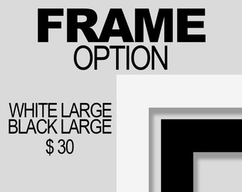 FRAME OPTION - Please specify which color you would like - 30 Dollars USD