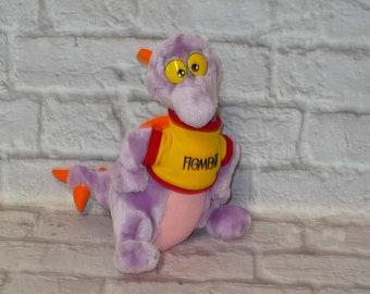 "Vintage 1980s FIGMENT DRAGON Walt Disney World Epcot Center Plush Stuffed Animal 10"" tall WDW"