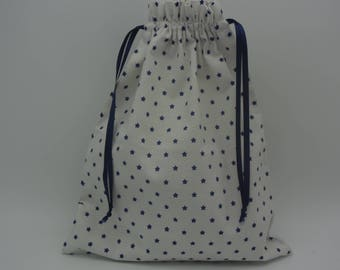 Large pouch fabric stars, lingerie bag
