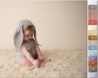 Sitter bunny bonnet | Different colors | Fuzzy bunny hat| Sitter bunny hat| Sitter photo props | Baby bunny hat |  Sitter animal bonnet