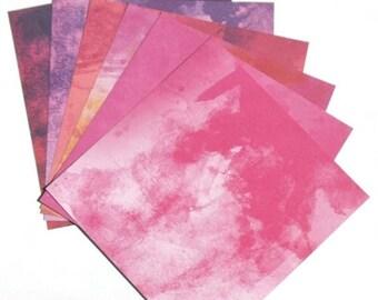 25% OFF - Bright Pink Splash - 6x6 ColorBok Paper Pack