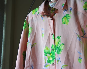 Vintage Coco Chanel floral shirt (Year 1990s)
