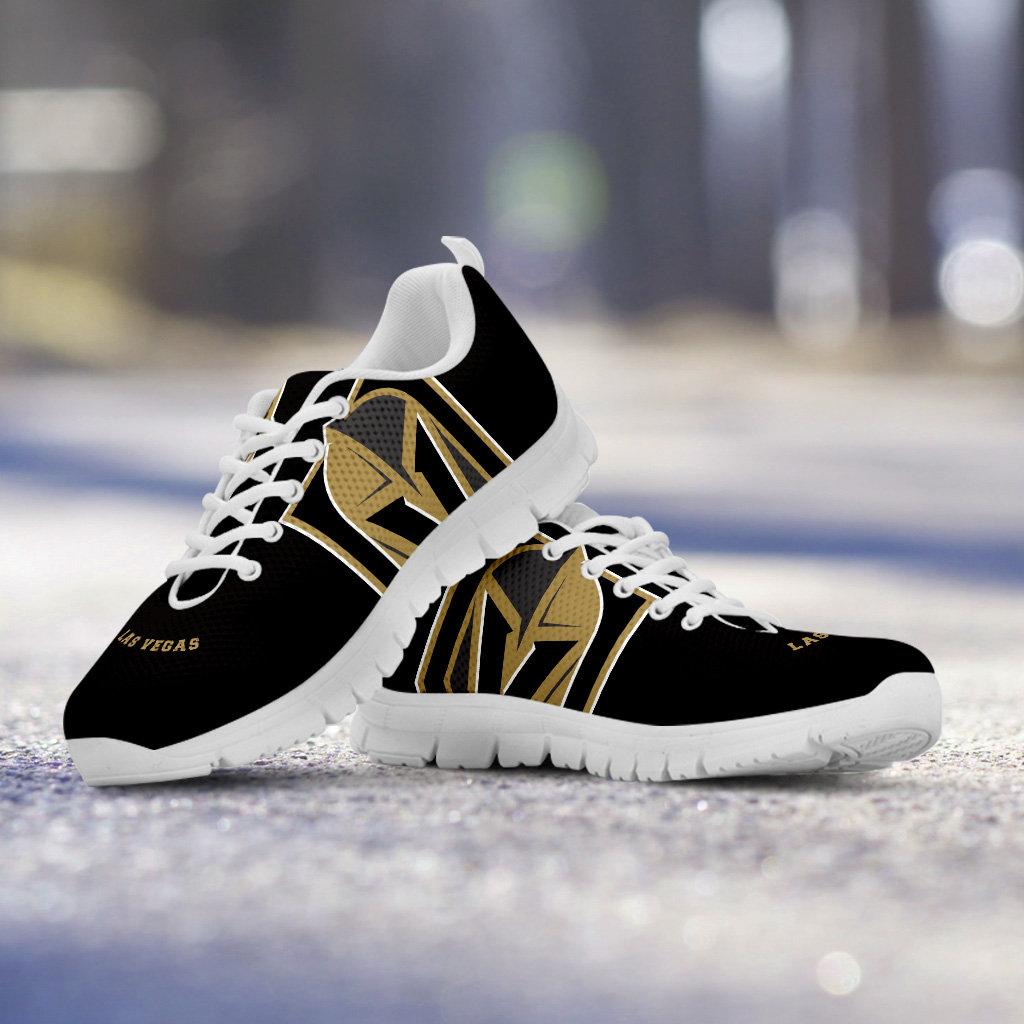 Vegas Golden Knights Fan non officiel personnalisé blanc semelle chaussures/baskets/formateurs  - Mesdames,  chaussures/baskets/formateurs s + tailles enfants, collector, cadeau 0b2632