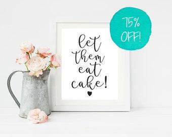 Let Them Eat Cake, Wedding Sign, Cake Sign, Wedding Cake, Wedding Cake Topper, Wedding Signs Printable, Wedding Signs, Cake, Cake Box, DIY