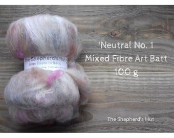 Mixed Wool Art Batt 'Neutral No. 1' 100 g  3.5 oz