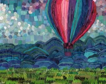 hot air balloon (11x14 print)