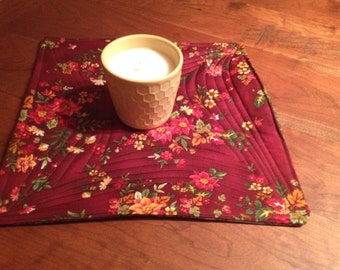 Candle Mat - Floral
