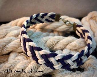 Boho braided men's bracelet