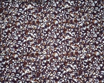 Rayon Challis  Apparel Fabric Abstract Blocks  By the Yard