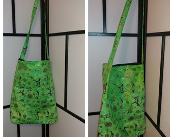 African Print Crossbody Bag, Tote Bag, Foldable, Shopping, Laptop, Market, Grocery Bag.