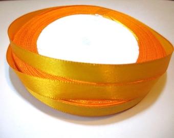 23 m reel Orange 10mm satin ribbon