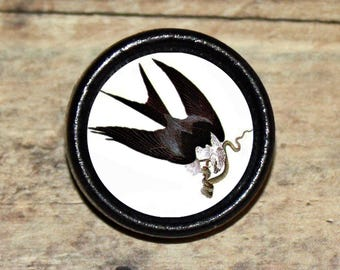 SWALLOW TAILED HAWK Pendant or Brooch or Ring or Earrings or Tie Tack or Cuff Links