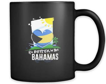 Bahamas Life is Better in the Carribean Black Graphic Mug