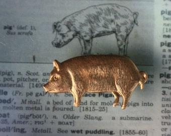 Classic Pig Charm (2 pc)