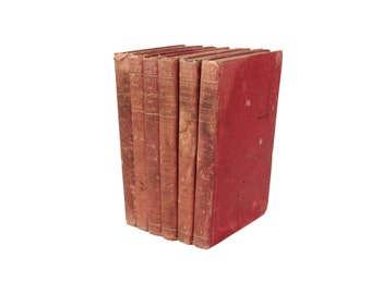 Vintage Men of the Bible Red Hardcover Book Collection Set of 6