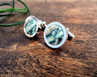 Polymer Clay Cufflinks - Abstract Design, Modern Cufflinks, Abstract Cufflinks, Wedding Gift, Father's Day
