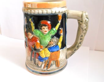 Vintage Ceramic Stein Beer Mug Tankard