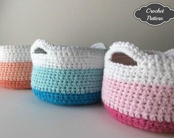 CROCHET PATTERN - Crochet Basket Pattern, Crochet Home Decor, Spring Decor, Crochet Storage Basket, Crochet to Calm, Desiree Hobson