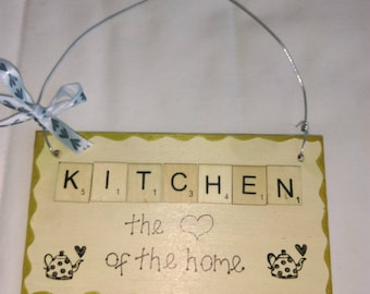 Handmade kitchen plaque