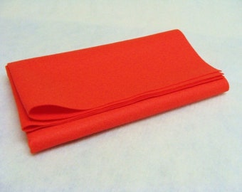"Bamboo (Xotic) Felt Sheet 21"" x 20"" -Macaw Red"