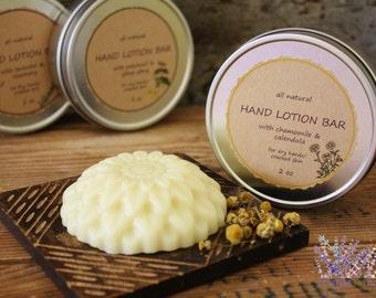 Hand lotion bar, all natural