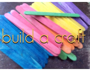 Colorful and Bright Popsicle Sticks -Arts & Crafts- Projects- Supplies-