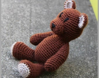 Little Teddy ... Teddy Bear Crochet Pattern ... Instant Download