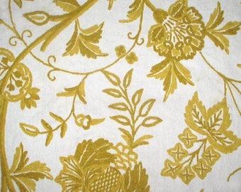 Vintage Stroheim & Romann Upholstery Fabric Decorator Sample 1970s 50 x 50 inches