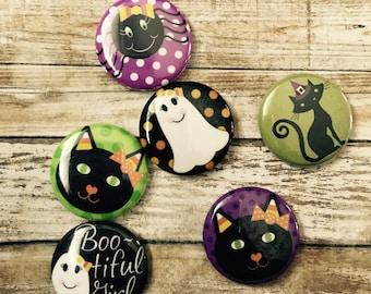 Set of 6 Halloween Magnets!