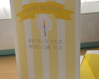 May all of your wishes come true birthday greetings card
