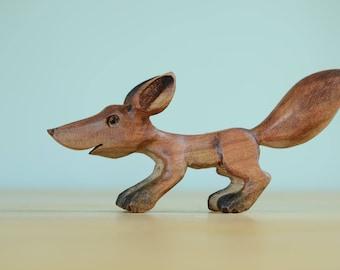 Wooden Fox Figure