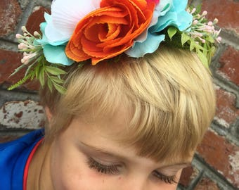 Bohemian Flower Crown, Bridal Flower Halo, Floral Hairpiece, Mommy & Me Crowns, Blush Flower Crown, Boho Crown, Summer Flower Crown