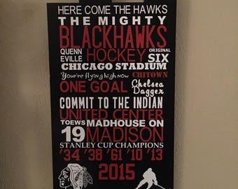 Chicago Blackhawks Subway Sign