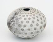 Spotted Ceramic Vessel - Sawdust Fired Pot