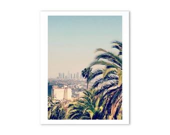 Los Angeles Wall Art, LA skyline, city prints, instant digital download, palm tree print, printable art, digital download