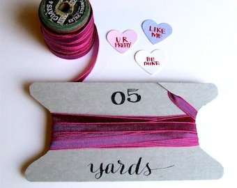 Hot Pink Ribbon, 5+ Yards, Magenta Fuchsia Pink, Fun Gift Wrapping, Scrapbooking, Party Favor Packaging, Bright Pink