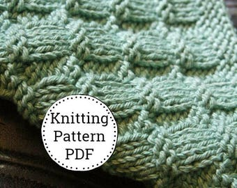 KNITTING PATTERN-Roll out the Barrels, Dishcloth Pattern
