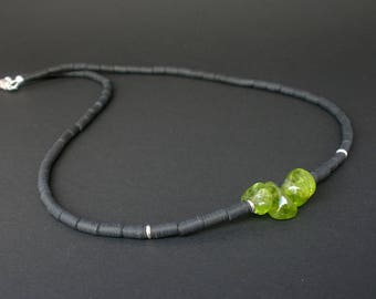 Men peridot necklace Etsy