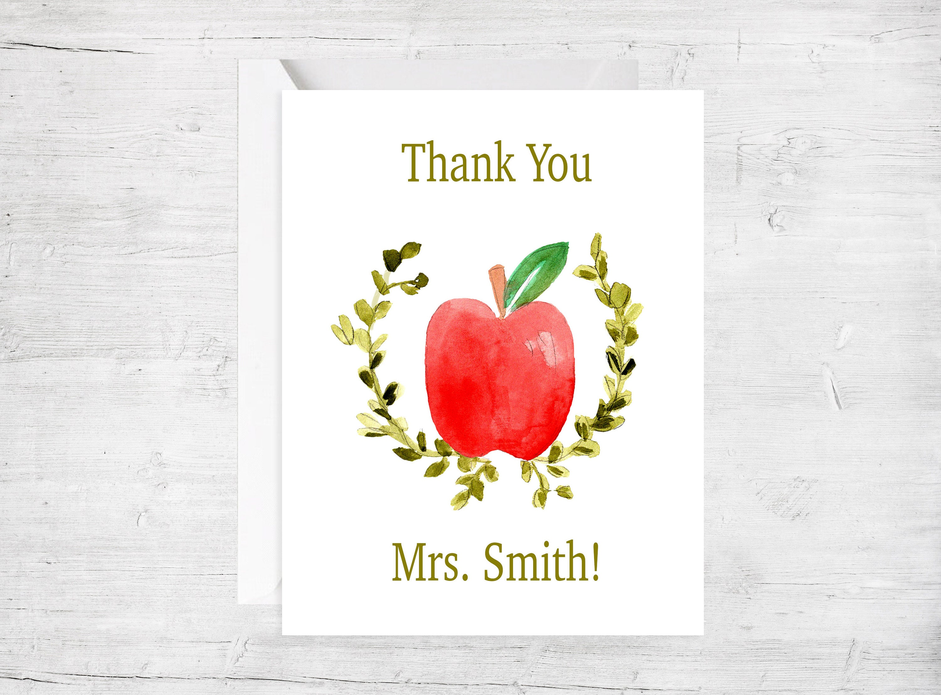 Teacher Appreciation Greeting Card Teacher Thank You Cards