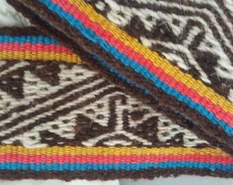 Vintage Hand Woven Sash Ecuador /Latin America