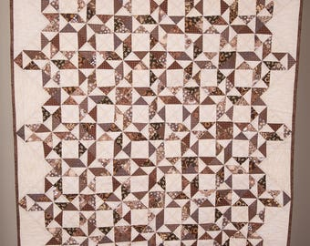 Wall or Lap Quilt in Earth Tones