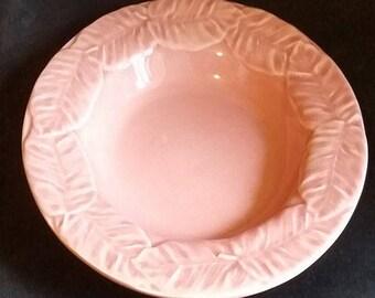 Bordallo Pinheiro Pink Majolica Coupe Bowl