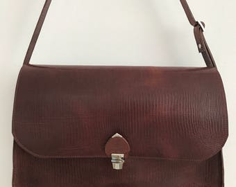 Biebec Leather Brown padded akte bag, work bag