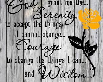 God grant me the serenity svg