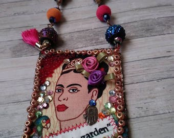Frida Kahlo Amulet Necklace