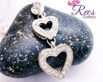 Sliver Hearts Necklace